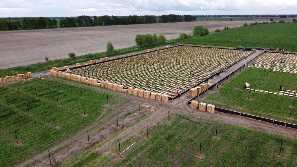 Один сегмент ферми равликів - це площа в 1 Га
